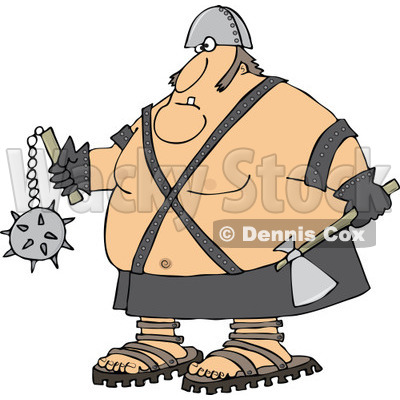 of an Executioner Holding an Axe and Flail.