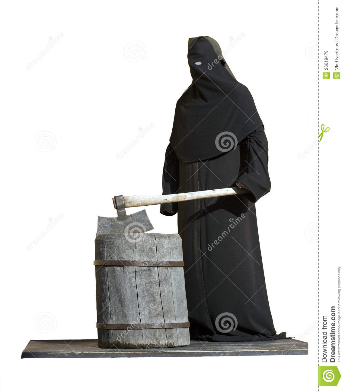 The Executioner With An Axe. Royalty Free Stock Photos.