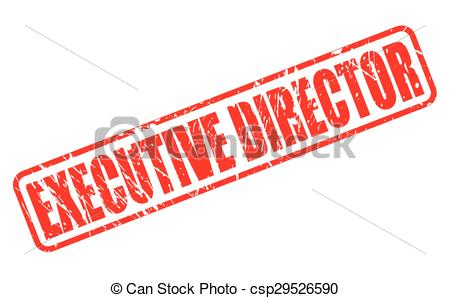 EPS Vectors of EXECUTIVE DIRECTOR red stamp text on white.