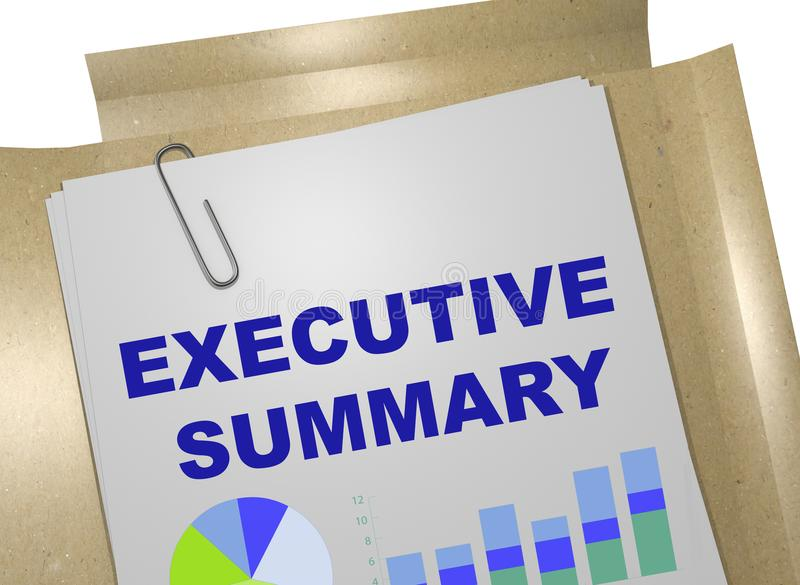 Executive Summary Stock Illustrations.