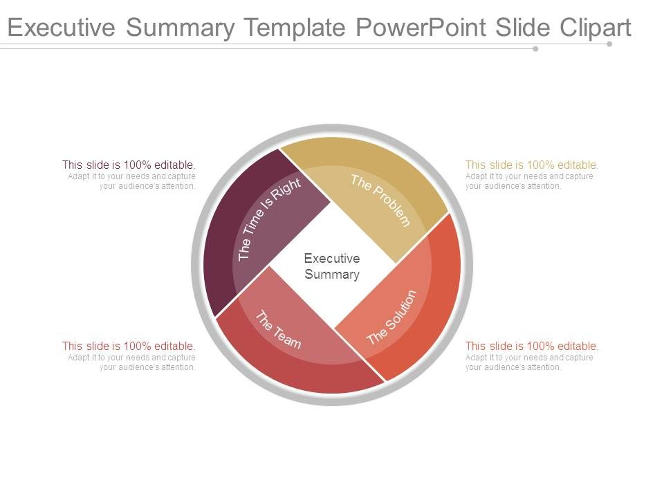 Executive Summary Template Powerpoint Slide Clipart.
