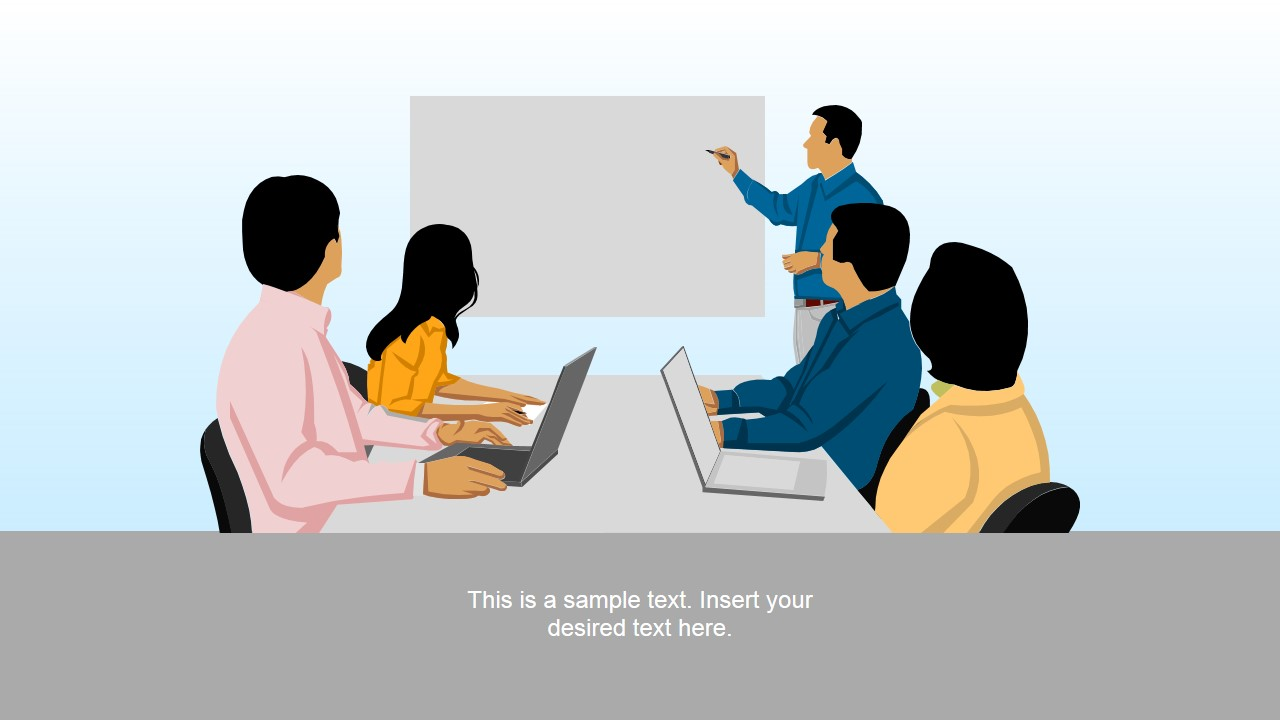 Corporate Board & Team of Executives Template for PowerPoint.