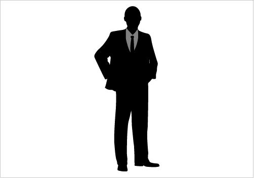 Executive Man Silhouette Graphics.
