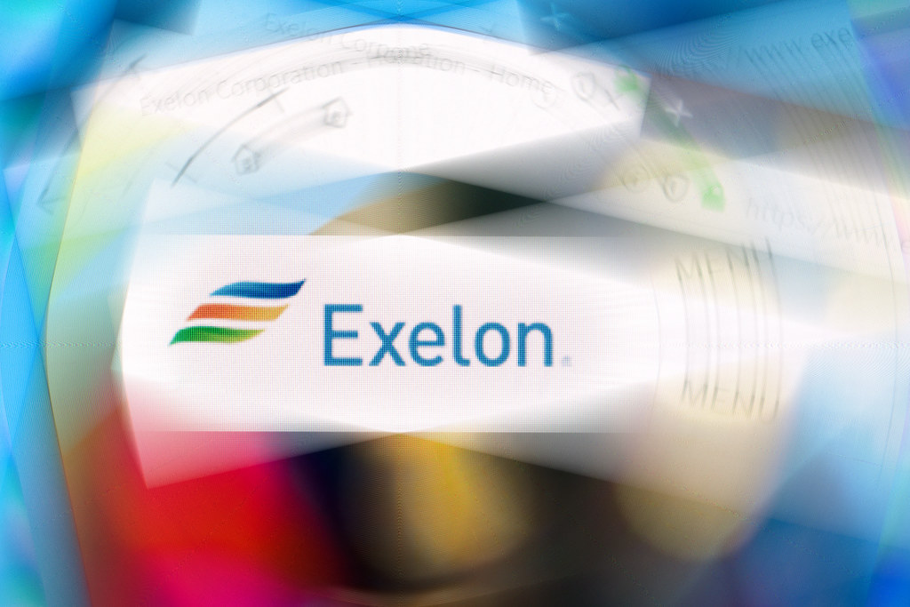 Exelon Corporation logo on company website displayed on co.