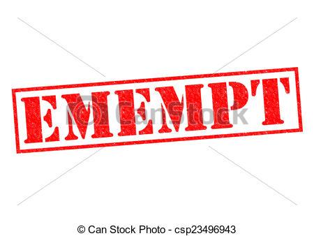 Exemption clipart.