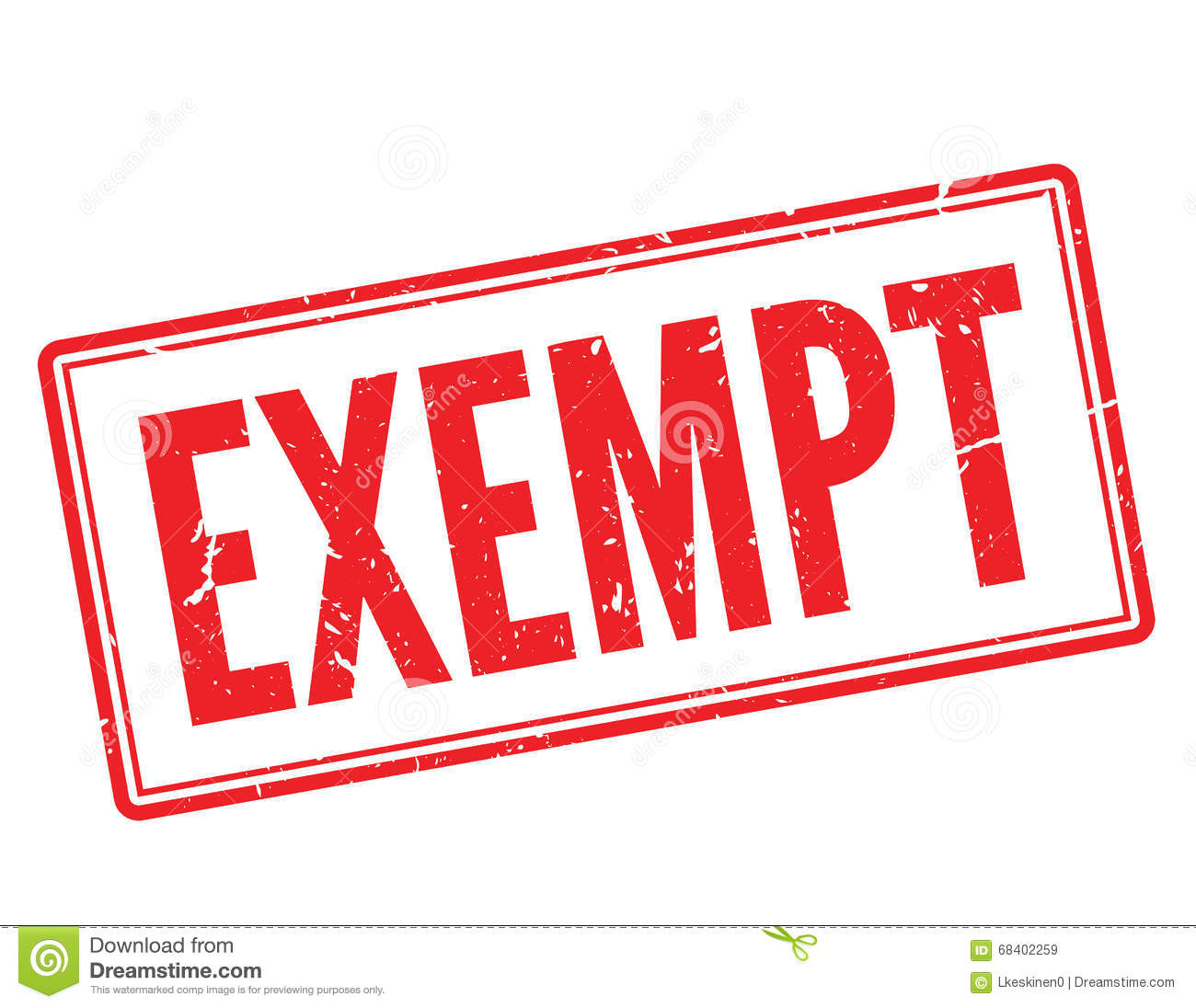 Exempt Red Rubber Stamp Stock Illustration.