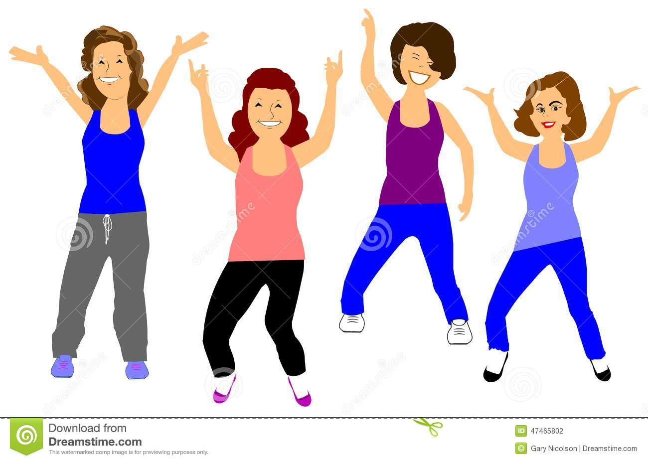 Free Clipart Of Exercise Class & Free Clip Art Images #25191.