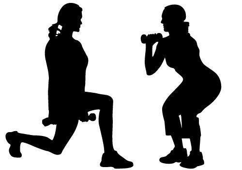 Women Exercise Vector Free Download.