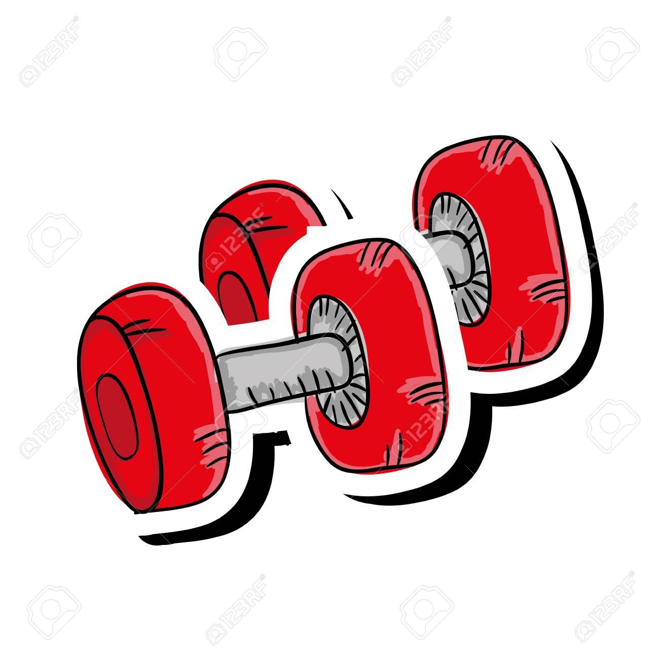 Dumbbell gym equipment » Clipart Station.