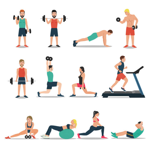 Best Exercise Illustrations, Royalty.