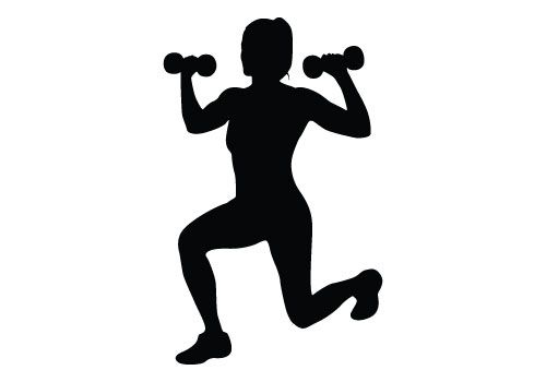 Fitness Silhouette Vector Download Free Woman Fitness Vector.