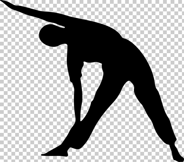 Yoga Physical exercise Silhouette Stretching, exercise PNG.