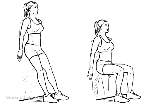 Wall sit clipart.