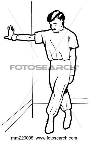 Stock Illustration of Exercise, tensor stretch mm220008.