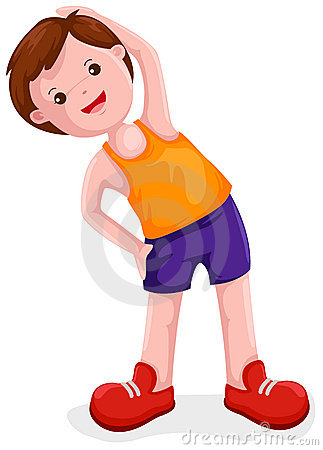 Exercise boy clipart free.