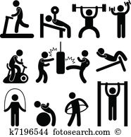Exercising Clip Art EPS Images. 87,875 exercising clipart vector.