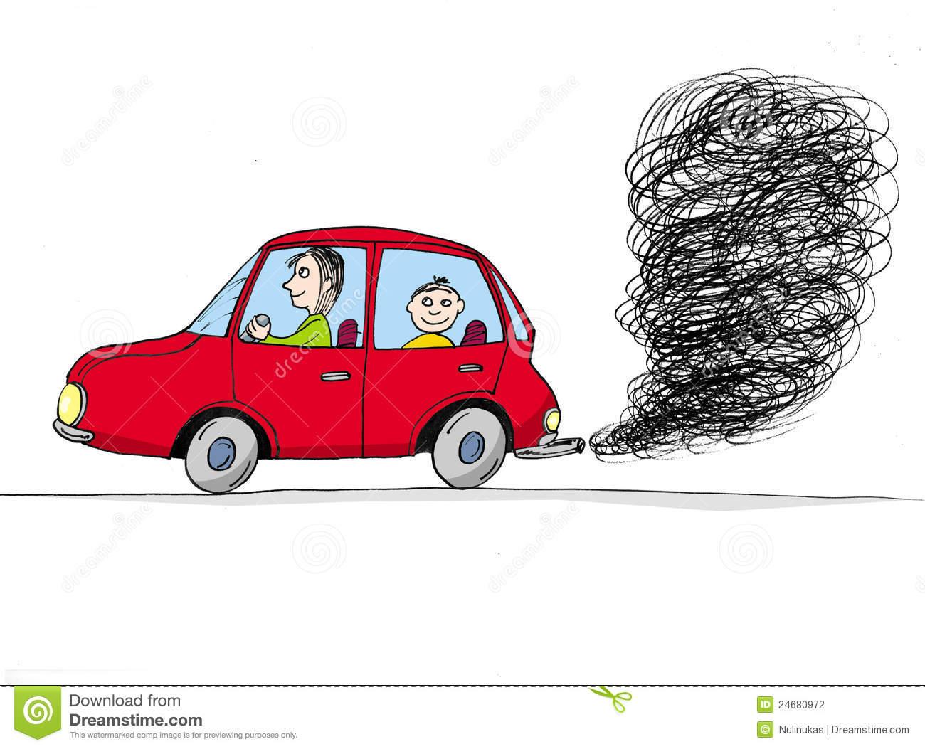Car exhaust fumes clipart.