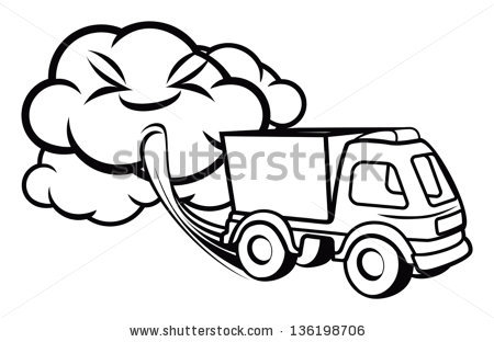 Exhaust Fumes Clipart.