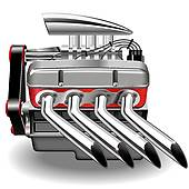 Clipart of car exhaust pipe k12671620.