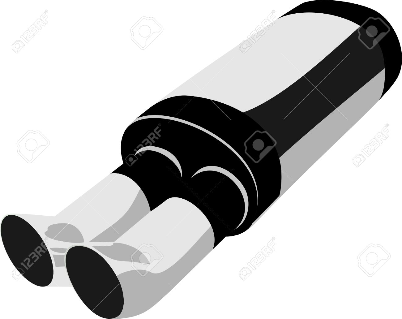 Exhaust Pipe Isolated On White Royalty Free Cliparts, Vectors, And.