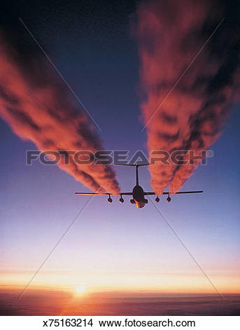 Stock Photo of Exhaust plumes from C.