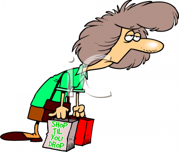 Exhausted Manager Clipart.