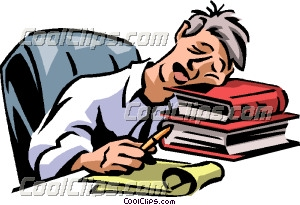 Exhaustion Clip Art.