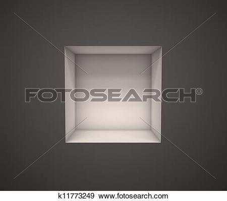 Stock Illustration of empty exhibition shelf k11773249.