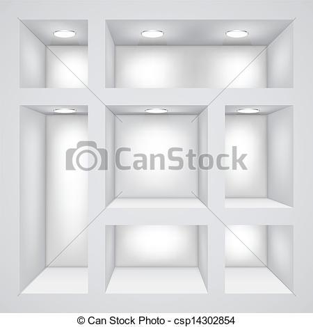 Clipart Vector of Empty shelves.