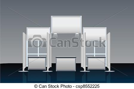 Vector Clip Art of Exhibition Stand csp8552201.