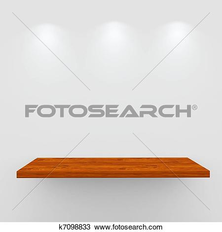 Clipart of Empty Shelf k6248540.