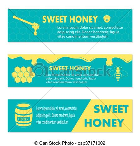 Vector Clipart of Honey banner for exhibitions, posters and other.