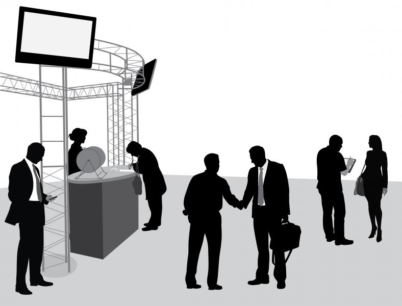 Trade show clipart.