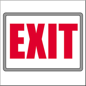 Clip Art: Signs: Exit Color I abcteach.com.