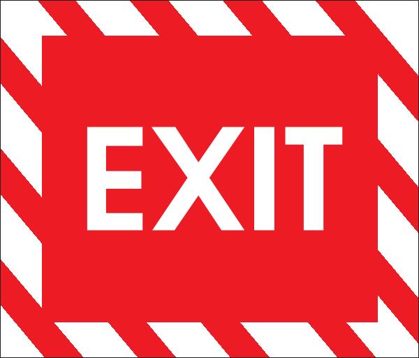 Exit Sign Clip Art at Clker.com.