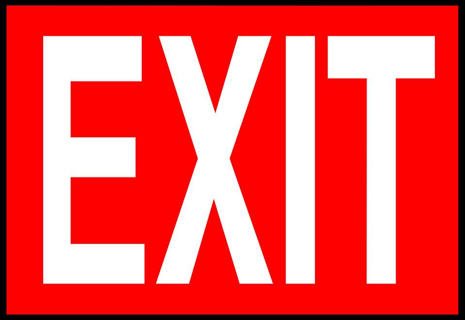 Free exit signs clip art.