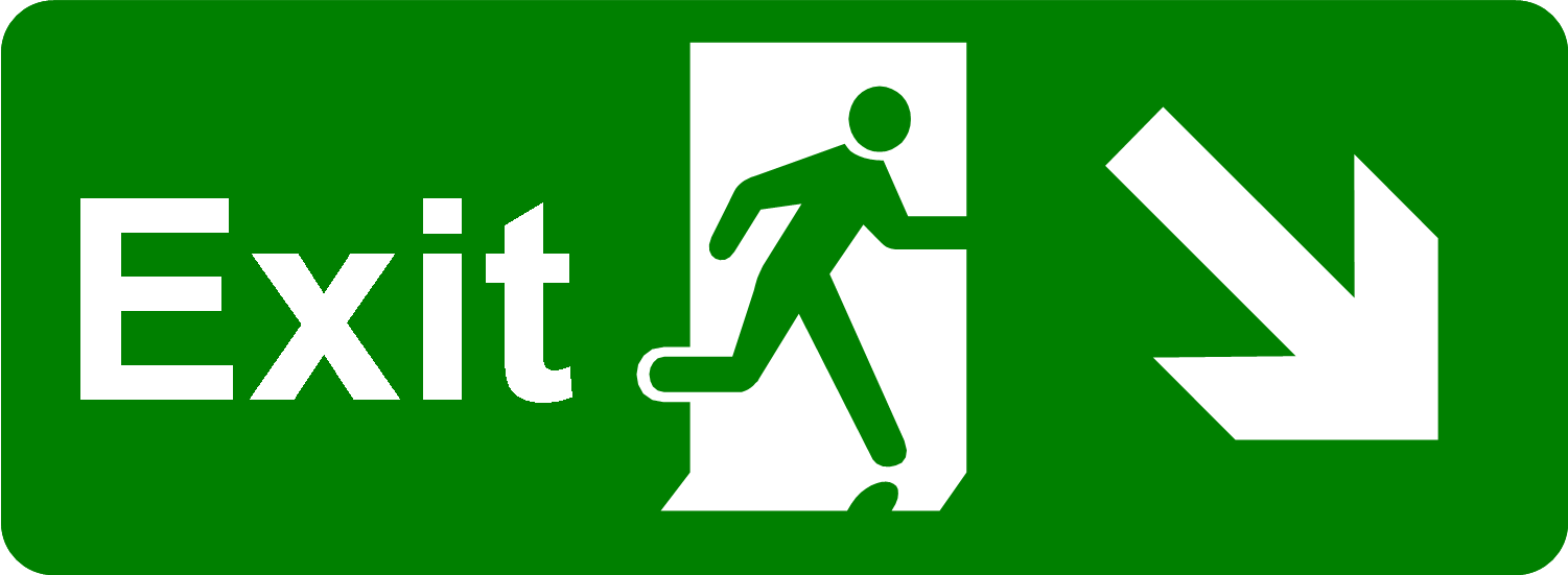 Exit Sign Green PNG Image.