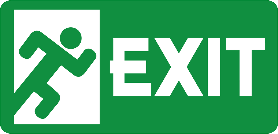 Exit PNG images free download.