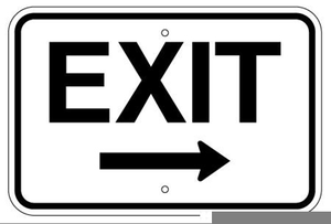 Free Clipart Exit Sign.
