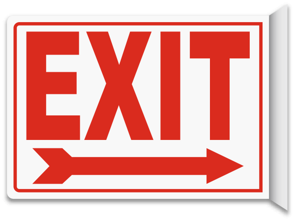 Emergency Exit Signs Clipart.