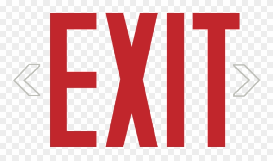 Exit Sign Text.