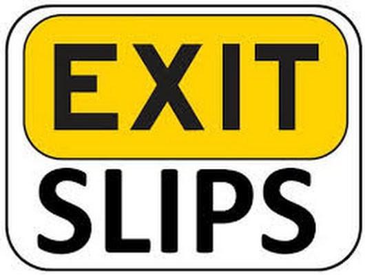 Exit slip clipart 3 » Clipart Portal.