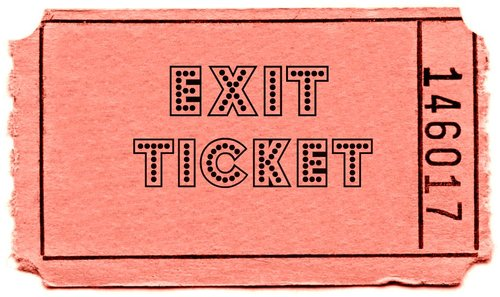 Exit ticket clipart 5 » Clipart Station.