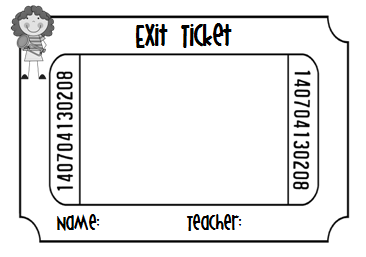 Exit ticket clipart 2.