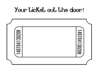 Password and Ticket Out the Door Signs.