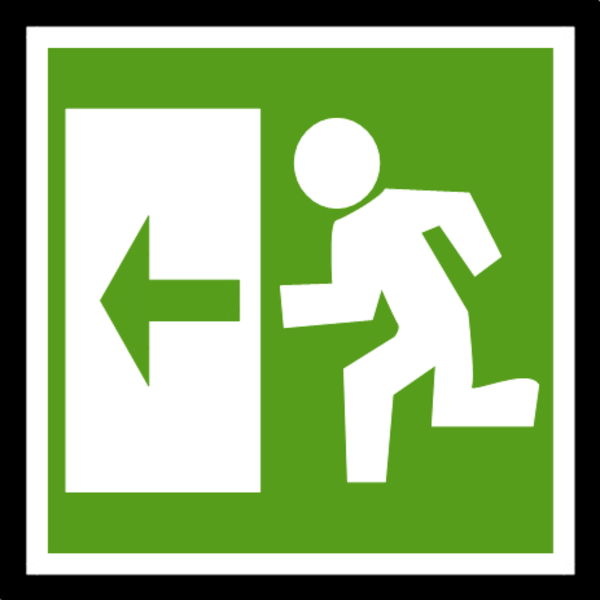 Exit Sign Clipart.
