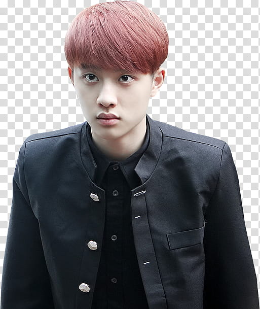 EXO Kyungsoo, man in suit jacket transparent background PNG.