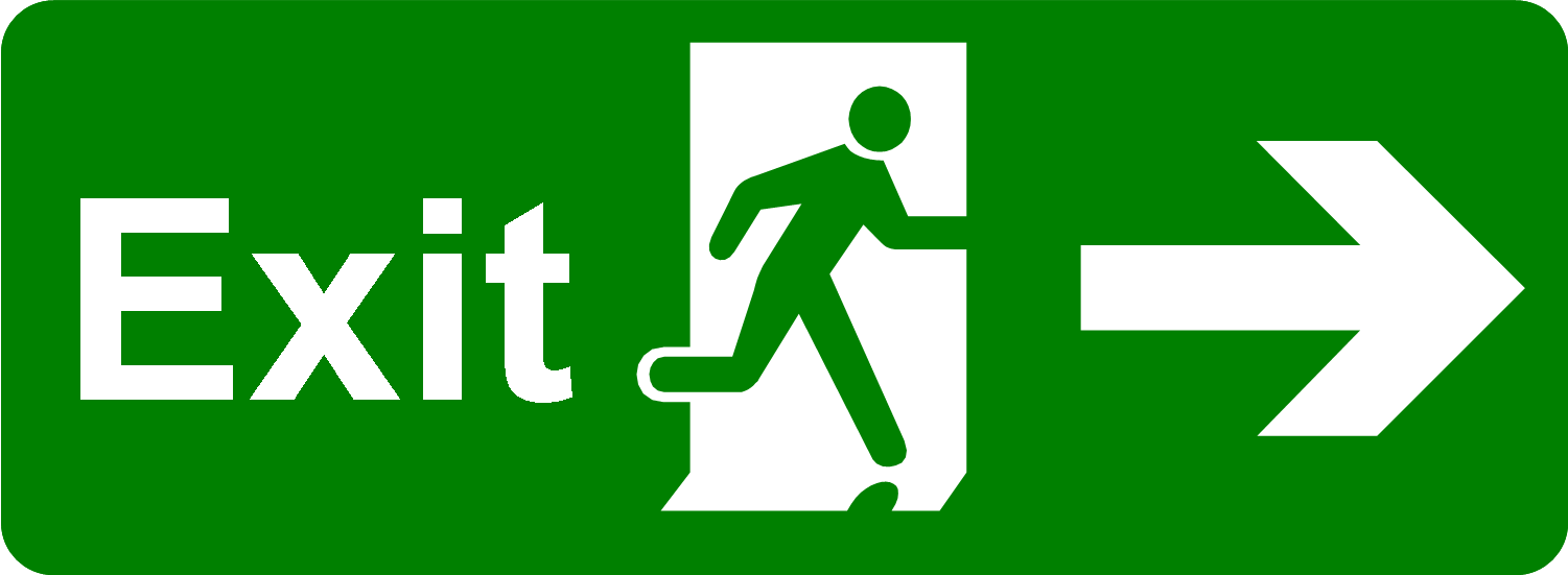 Emergency Exit Clipart.