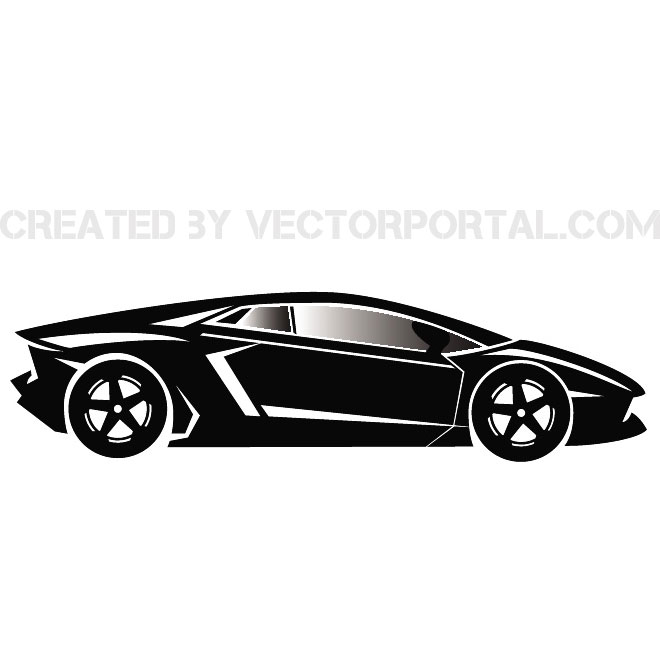 LUXURY CAR VECTOR IMAGE.