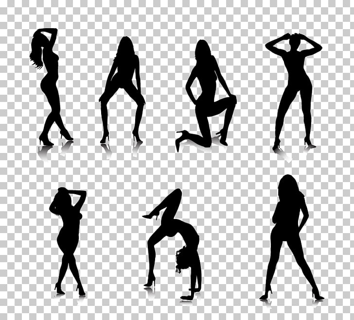 Silhouette Woman Exotic dancer, Silhouette PNG clipart.
